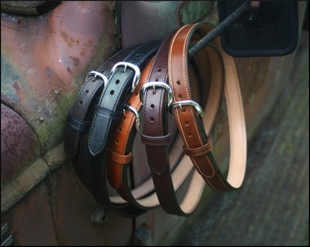 1 1/2 Inch Leather Gun Belts Hand Made from Horse Hide