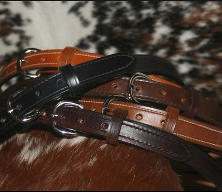1 1/4 Inch Leather Gun Belts Hand Made from Bull Hide
