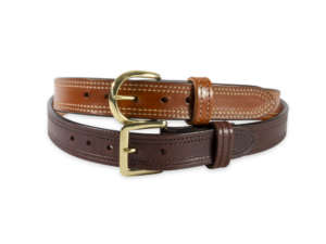 Double Stitched Dual Leather Gun Belt