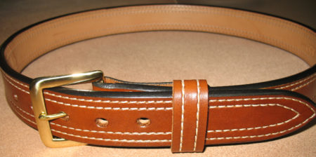 Double Stitched Leather Belts