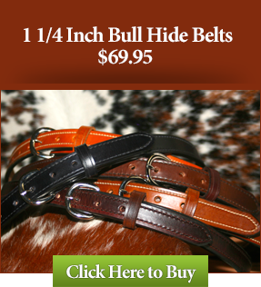 "1 1/4"" Bull Hide Leather Gun Belts"