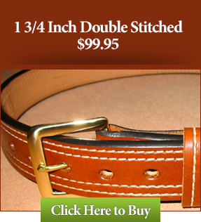 1 3/4 Double Stitched Custom Leather Gun Belts $99.95