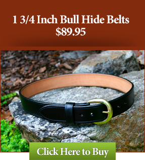 "1 3/4"" Bull Hide Leather Gun Belts"