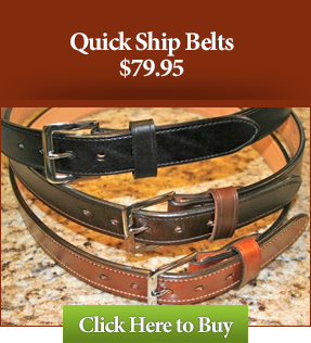 Quick Ship Leather Gun Belts