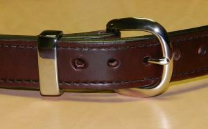Custom Gun Belt with Nickel Buckle and Hardware