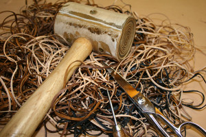 Tools used to make hand made custom leather belts.