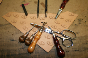 Tools used to make our hand made custom leather belts.