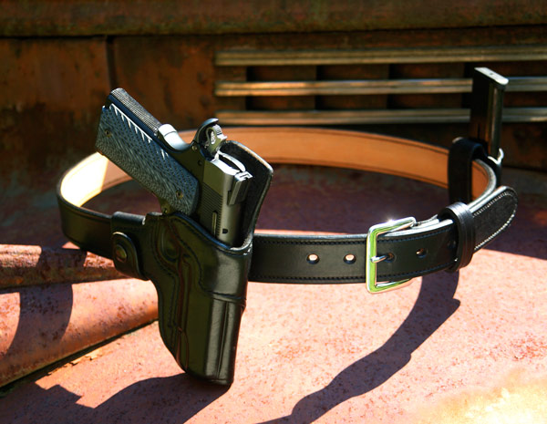 This is my personal weapon I carry on one of my hand crafted gun belts.