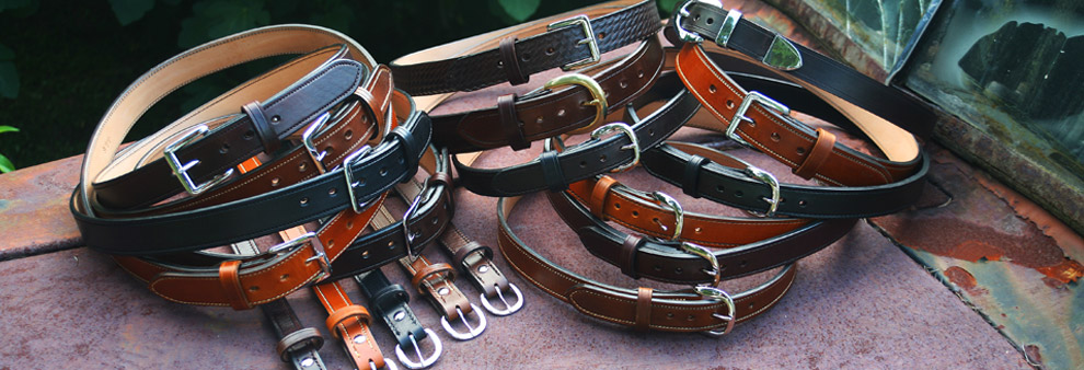 A&G Custom Leather Gun Belts made to order in the USA for women and men. Built for every day carry.